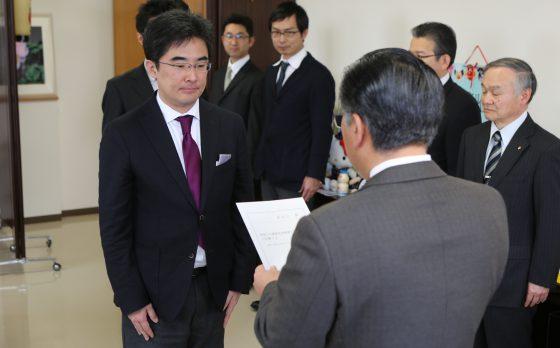 2014年4月2日にセンター教員が須賀川市の健康長寿推進アドバイザーに委嘱されました。